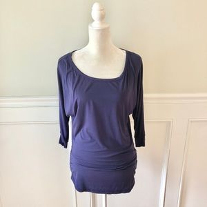 THANTH Purple Blue Soft Dolman Sleeve Top M